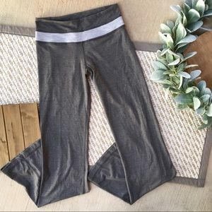 Lululemon Grey Flare Cut Yoga Groove Pants Size 2